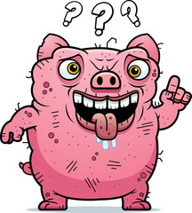 Confused Ugly Pig