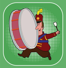 Make Noise / A marching band drummer.