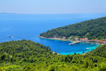 Trstenik town on Peljesac Peninsula, Croatia.