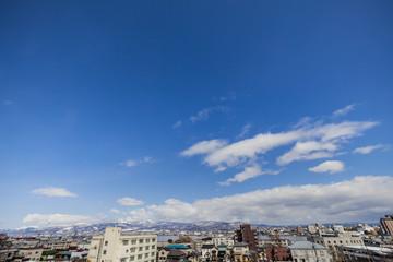 函館港と函館の街並み