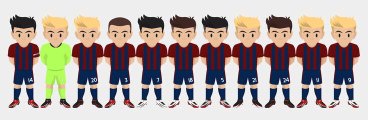Vector Character Football / Soccer Team