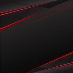 Black and Red abstract background vector