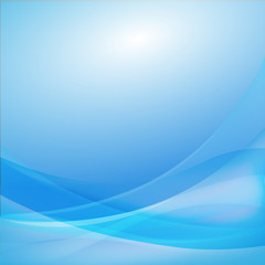 Foto op Plexiglas Abstract wave Blue curve abstract background vector