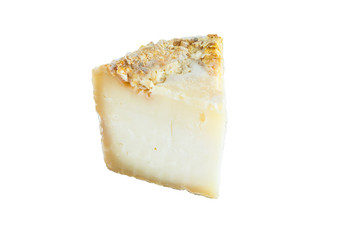 Slice of hard cheese, goat's milk.
