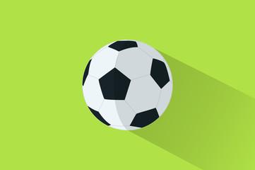soccer ballon flat design on isolated background