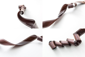 Retro and vintage film strip roll
