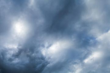 Dark dramatic sky with stormy clouds