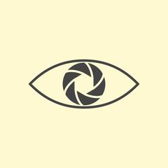Photography logo design eye.