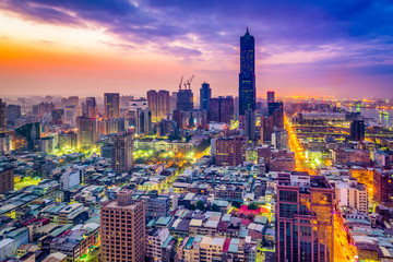 Kaohsiung, Taiwan Skyline