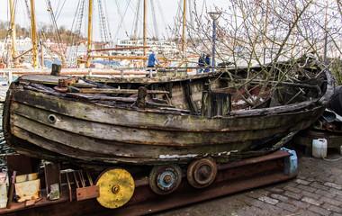 Museumshafen Flensburg, altes Boot