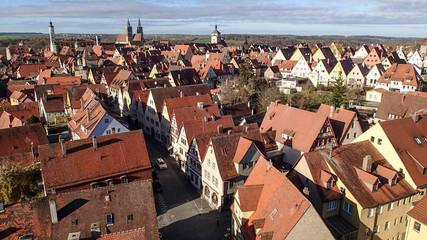 ドイツの赤い屋根の街並み