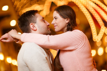 Photography of happy kissing couple