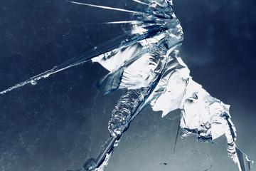 broken dirty glass outdoor