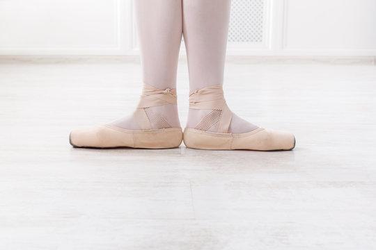 Ballerina legs in first position