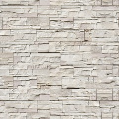 Seamless texture wall light gray stone wild fence
