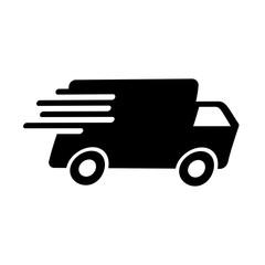 Schwarzes einfaches Symbol - Lieferung - Lieferservice