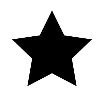 Schwarzes einfaches Symbol -  Stern - Favorit
