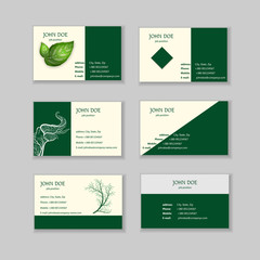 Save the world. Ecological business cards