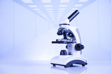 Microscope in medical laboratory, Research and experiment Wall mural