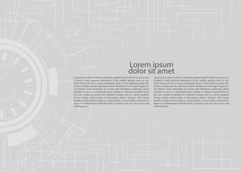 Technology banner website vector design