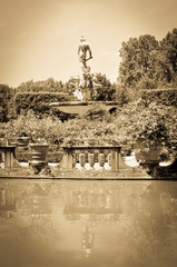 Old fountain in Florence, Italy