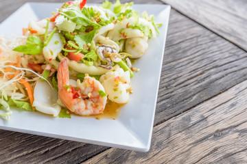 Thai Spicy Seafood Salad Recipe