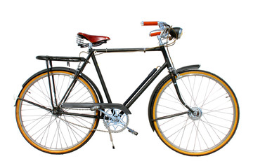 Ride bicycle isolated on white background
