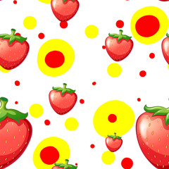 Seamless background with fresh strawberries