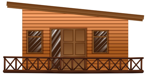 Wooden hut with terrace