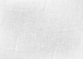 Seamless White Coarse Fabric Texture - Background Illustration, Vector
