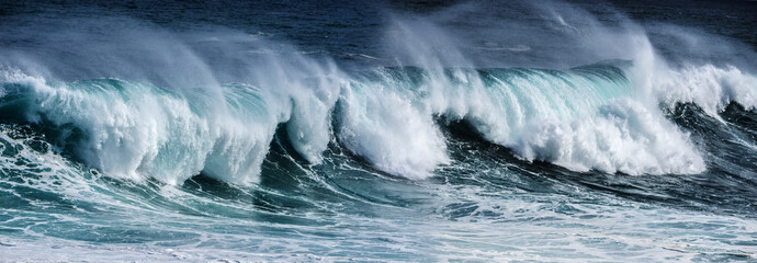Tuinposter Water big sea wave