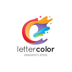 Colorful Letter E Logo Template