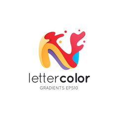Colorful Letter N Logo Template