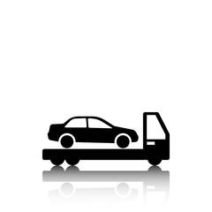 tow truck icon stock vector illustration flat design