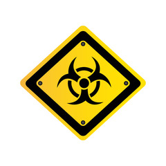 metal biohazard warning sign icon, vector illustration design