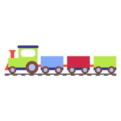 Vector illustration of a toy train locomotive