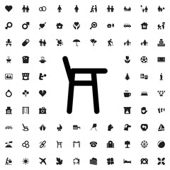 Baby chair icon illustration