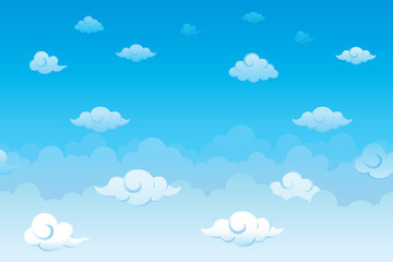 Sky with clouds. Vector illustration