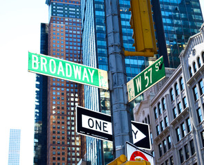 Broadway New York Street Sign
