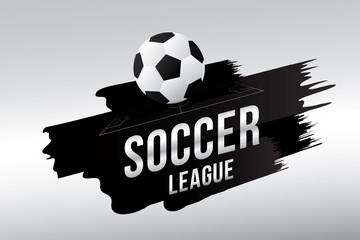 Vector of soccer league with football.