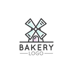 Vector Icon Style Illustration Concept Logo of Bakery, Mill, Bread Product, Store or Market, Isolated Symbols for Web and Mobile Banner
