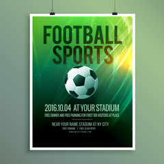 abstract vector football sports flyer poster template design in vector
