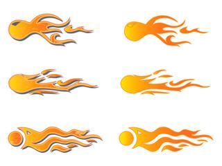 Vehicle Graphics, Stripe :  Hot Rod Racing Flame, Graffiti car decal, Vinyl Ready, Graphic design vector illustration.