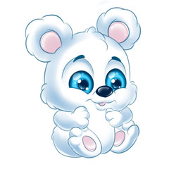 Little white bear cartoon Illustrations isolated image animal character