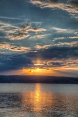 Sundown over an lake
