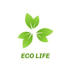 Abstract eco green logo