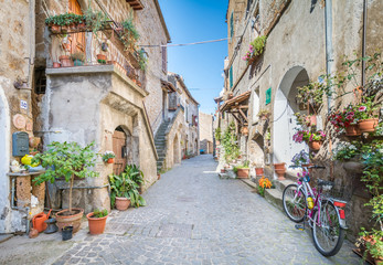 Scenic sight in Barbarano Romano, medieval village in Viterbo Province, Lazio, Italy Fototapete