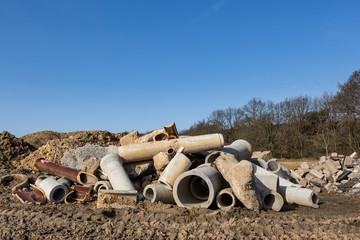 Baustelle Schutt alte Rohre © Matthias Buehner