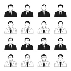 business man icons vector set