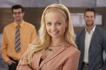 Closeup portrait of confident businesswoman